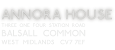 Annora House Guest House<br>314 Station Road<br>Balsall Common<br>CV7 7EF
